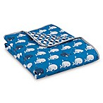 Lolli Living™ by Living Textiles Mod Whale Reversible Quilted Comforter in Blue
