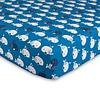 Lolli Living™ by Living Textiles Mod Whale Fitted Crib Sheet in Blue