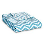 Lolli Living™  by Living Textiles Mod Chevron Chenille Blanket in Teal