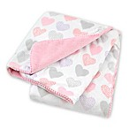 Just Born® Pink Hearts Plush Blanket