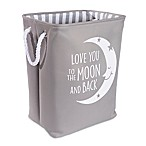 "Taylor Madison Designs® ""Love You To the Moon"" Hamper in Grey/White"