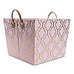 Taylor Madison Designs® Kayla Storage Bin in Pink/Gold Foil