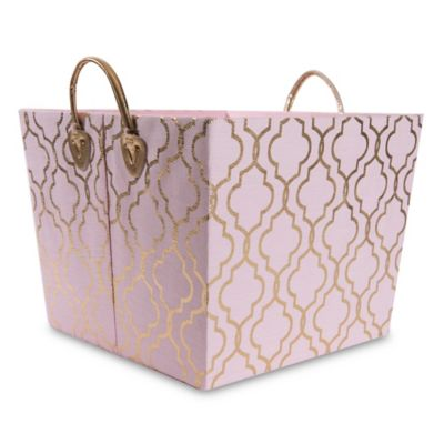 Taylor Madison Designs® Kayla Storage Bin In Pink/Gold Foil