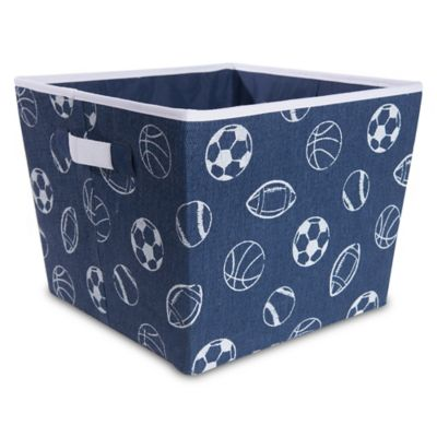 Taylor Madison Designs® All Over Sports Balls Storage Bin In Navy