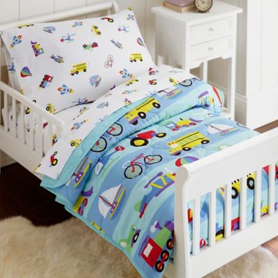 Olive Kids On The Go 4 Piece Toddler Bedding Set In Blue