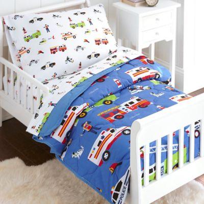 olive kids heroes 4piece toddler bedding set in blue