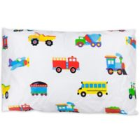 Olive Kids Trains, Planes, and Trucks Multicolor Toddler Pillowcase