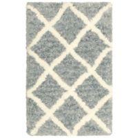 Vista Living Sophia Diamond Shag 2-Foot 3-Inch x 3-Foot 9-Inch Accent Rug in Dusk Blue