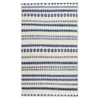 Capel Rugs Genevieve Gorder Scandinavian Stripe 5-Foot x 8-Foot Area Rug in Blue