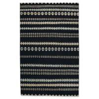 Capel Rugs Genevieve Gorder Scandinavian Stripe 5-Foot x 8-Foot Area Rug in Black