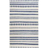 Capel Rugs Genevieve Gorder Scandinavian Stripe 8-Foot x 10-Foot Area Rug in Blue