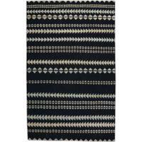 Capel Rugs Genevieve Gorder Scandinavian Stripe 8-Foot x 10-Foot Area Rug in Black