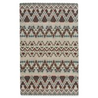 Capel Rugs Fort Apache Geometric 5-Foot x 8-Foot Area Rug in Fawn