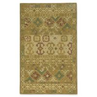 Capel Rugs Smyrna Afghan 5-Foot x 8-Foot Area Rug in Gold