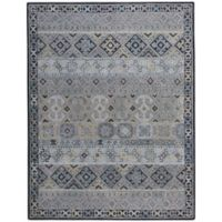 Capel Rugs Smyrna Afghan 7-Foot x 9-Foot Area Rug in Ash