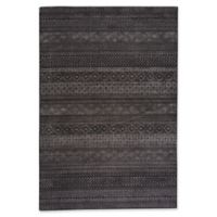 Capel Rugs Channel Stripe 5-Foot 3-Inch x 7-Foot 6-Inch Area Rug in Black