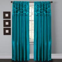 Circle Dream 84-Inch Rod Pocket Window Curtain Panel Pair in Turquoise