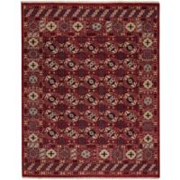 Carpel Rugs Biltmore Plant Treasure 7-Foot 6-Inch x 9-Foot 6-Inch Area Rug in Red