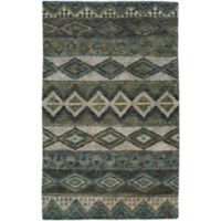 Capel Rugs Striation 8-Foot x 10-Foot Area Rug in Green