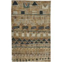 Capel Rugs Striation 3-Foot 6-Inch x 5-Foot 6-Inch Area Rug in Beige