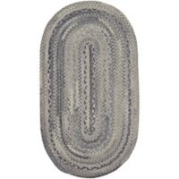 Capel Rugs Harborview Braided 1-Foot 8-Inch x 2-Foot 6-Inch Oval Accent Rug in Grey