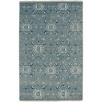 Capel Rugs Inspirit 3-Foot 6-Inch x 5-Foot 6-Inch Accent Rug in Grey/Blue