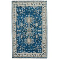 Capel Rugs Inspirit 3-Foot 6-Inch x 5-Foot 6-Inch Accent Rug in Blue/Beige