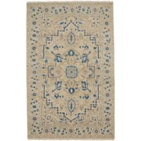 Capel Rugs Inspirit 3-Foot 6-Inch x 5-Foot 6-Inch Accent Rug in Beige/Blue