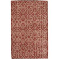Capel Rugs Classic-Courtyard Geo 3-Foot 6-Inch x 5-Foot 6-Inch Area Rug in Red
