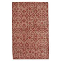 Capel Rugs Classic-Courtyard Geo 5-Foot x 8-Foot Area Rug in Red