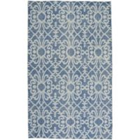 Capel Rugs Classic-Courtyard Geo 8-Foot x 10-Foot Area Rug in Blue