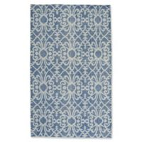 Capel Rugs Classic-Courtyard Geo 5-Foot x 8-Foot Area Rug in Blue