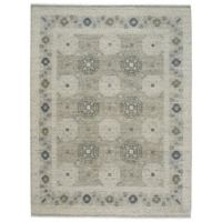 Capel Rugs Burmesse Tile 7-Foot 6-Inch x 9-Foot 6-Inch Area Rug in Grey