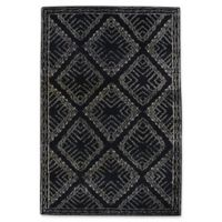 Capel Rugs Fortress Crystal 5-Foot x 8-Foot Area Rug in Black