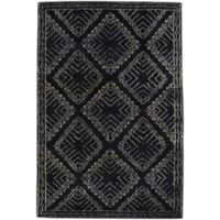 Capel Rugs Fortress Crystal 8-Foot x 11-Foot Area Rug in Black