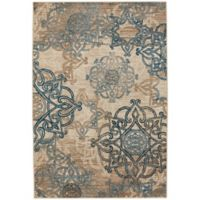 Capel Rugs Bethel-Celtic 3-Foot 10-Inch x 5-Foot 5-Inch Indoor/Outdoor Area Rug in Blue