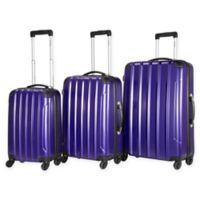 Chariot Vercelli 3-Piece Luggage Set in Purple