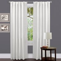 Lush Decor 84-Inch Venetian Rod Pocket Window Curtain Panel in White