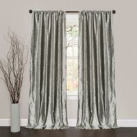Lush Decor 84-Inch Velvet Dream Rod Pocket Window Curtain Panels in Silver
