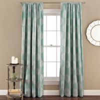 Sophie Blackout 84-Inch Rod Pocket Window Curtain Panel Pair in Blue