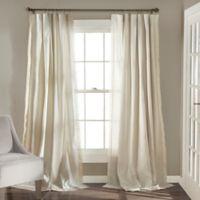 Lush Décor Rosalie 84-Inch Rod Pocket Window Curtain Panel Pair in Ivory