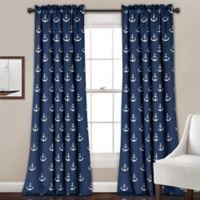 Anchor 84-Inch Room Darkening Rod Pocket Window Curtain Panel Pair in Navy