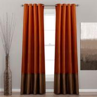 Prima 84-Inch Grommet Top Window Curtain Panel Pair in Rust/Brown
