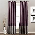 Lush Décor Prima 84-Inch Grommet Top Window Curtain Panel Pair in Purple/Grey