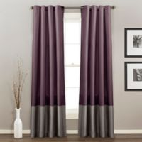 Prima 84-Inch Grommet Top Window Curtain Panel Pair in Purple/Grey