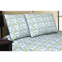 Micro Lush Microfiber Floral Standard Pillowcases in Blue (Set of 2)