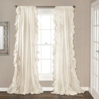 Lush Decor 84-Inch Reyna Rod Pocket Window Curtain Panel Pair in Ivory