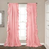 Lush Decor 84-Inch Reyna Rod Pocket Window Curtain Panel Pair in Pink
