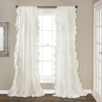 Lush Decor 84-Inch Reyna Rod Pocket Window Curtain Panel Pair in White