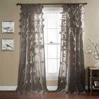 Riley 84-Inch Rod Pocket Window Curtain Panel in Grey